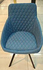 Стул обеденный модерн мягкий Aspen (Аспен) akh new, цвет темно-синий, фото 2