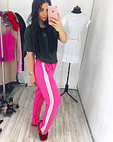 Брюки женские модные с лампасами из сетки 3 цвета Bv14