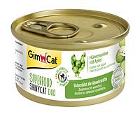 Консервы GimCat Superfood ShinyCat Duo для кошек с курицей и яблоком, 70 г