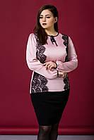 Блуза большого размера 1834, нарядная блузка блузка большого размера
