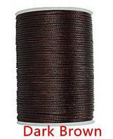 Нить вощеная 0,8мм 78метров полиэфирная микрофибра  020 dark brown