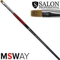 Salon Prof. Кисть для рисования 1шт черно-красная ручка, плоская прямая №6 37815