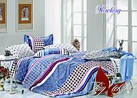 Постельное белье евро ранфорс Каскад,постельный комплект