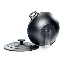 Сковорода вок с крышкой Fissman 24х8 см CI-4099.24, фото 2