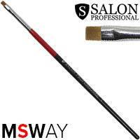 Salon Prof. Кисть для рисования 1шт черно-красная ручка, плоская прямая №2 37810