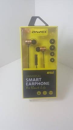 Вакуумные стерео наушники Awei Q5i In-ear Earphones (gold), фото 2