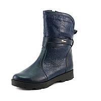 Ботинки зимние женские Ilona IL17-18 синяя кожа