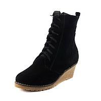Ботинки зимние женские Ilona IL10-19-73 черная замша