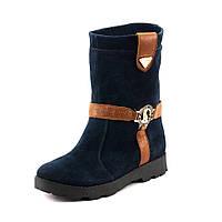 Ботинки зимние женские Ilona IL18-18-1 синяя замша