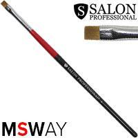 Salon Prof. Кисть для рисования 1шт черно-красная ручка, плоская прямая №4 37825