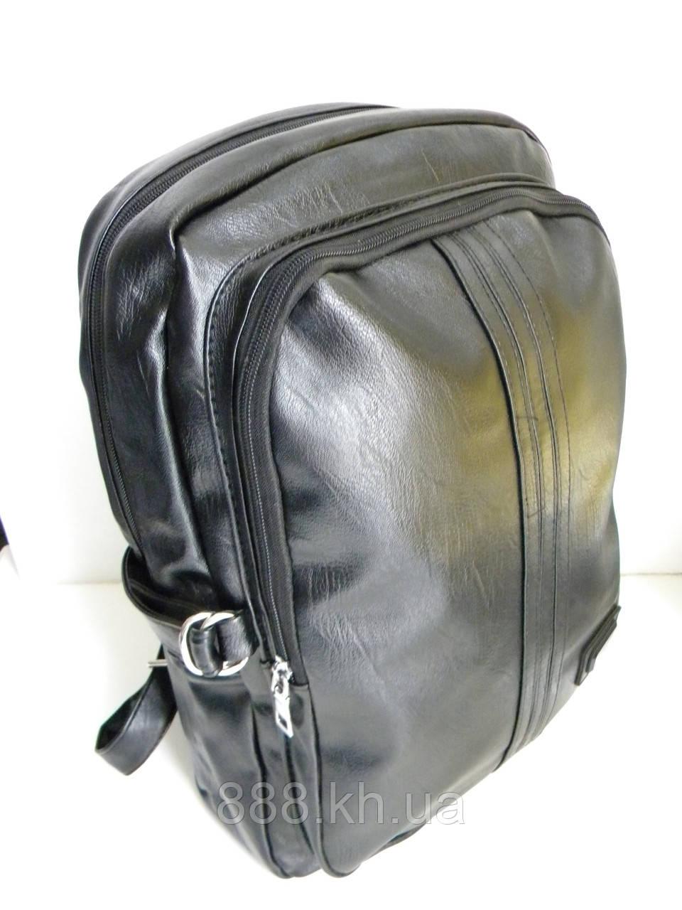 Кожаный рюкзак, городской рюкзак, молодежный рюкзак