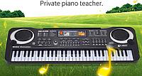 Детский электронный синтезатор,  пианино, орган MQ 009 FM, 61 клавиша, микрофон.
