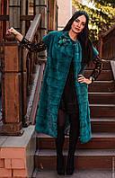 NEW!Новая коллекция!Шикарный удлиненный жилет из меха скандинавской норки