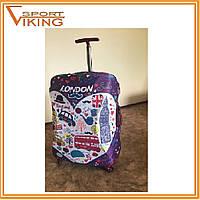 """Стильные и практичные чехлы на чемоданы серия """" Love LONDON """", разные размеры"""