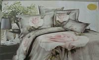 Сатиновое постельное белье евро 3D ELWAY S170