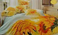 Сатиновое постельное белье евро 3D ELWAY S175