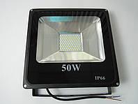 Светодиодный прожектор LED 50W Slim премиум SMD (черый)