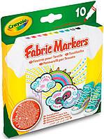 10 фломастеров для рисования по ткани, Crayola