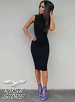 Женское платье до колен облегающее