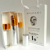 Мини парфюмерия Bvlgari Omnia Crystalline (Булгари Омния Кристалайн) с феромонами + 2 запаски, 3x15 мл.