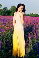 Туника омбре лимонный-белый Empire Of Summer