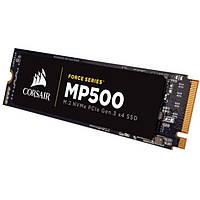 Твердотельный накопитель M.2 120Gb, Corsair Force MP500, PCI-E 4x, MLC, 3000/2400 MB/s (CSSD-F120GBMP500)