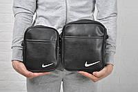 Месенджер, борсетка Nike кож зам белый лого