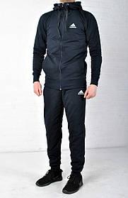 Спортивный костюм Adidas с капюшоном темно синий