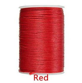 Нить вощеная 0,8мм 78метров полиэфирная микрофибра 049 red