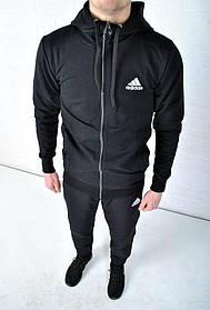 Спортивный костюм Adidas с капюшоном черный