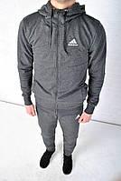 Спортивный костюм Adidas с капюшоном темно-серый