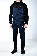 Спортивный костюм Nike синий с черным капюшоном