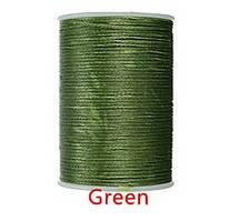 Нить вощеная 0,8мм 78метров полиэфирная микрофибра 034 green
