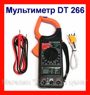 Токоизмерительные клещи мультиметр DT 266 F, фото 2