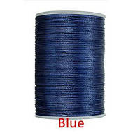 Нить вощеная 0,8мм 78метров полиэфирная микрофибра 037 Blue