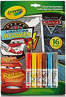 Книга-раскраска по номерам с фломастерами Тачки-3 (16 стр), Crayola