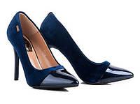Туфли женские велюровые на шпильке A95-15 Большой выбор обуви на http://saxo.com.ua