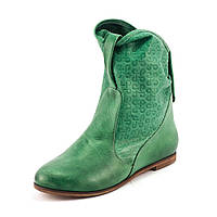 Ботинки демисез женск Ilona IL49-49 зеленая кожа