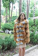 Новая коллекция! Женская шуба из меха лисы, в наличии 42,44,46,48 размеры