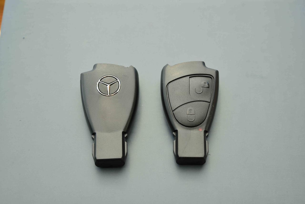 Корпус ключ Мерседес (Mercedes) 2 кнопки рыбка