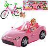 Кукла барби в машинке с велосипедом K877-30E, фото 2