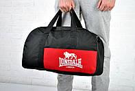 Сумка Lonsdale Duffle bag черная + красный