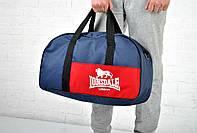 Сумка Lonsdale Duffle bag синяя + красный