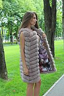 NEW!Новая коллекция! Женский жилет меха песца в наличии 42,44,46 размеры