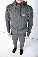 Спортивный костюм Tommy Hilfiger с капюшоном темно-серый