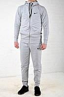 Спортивный костюм Nike серый с капюшоном