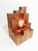 """Лампа """"City Space"""" из натурального дерева"""