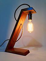 """Деревянная настольная лампа """"Straight Line"""""""