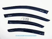 Дефлекторы окон KIA Rio седан 2005-2011 (на скотче) ветровики