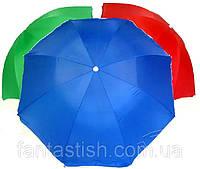 Зонт пляжный с чехлом, 2,2 м, для отдыха на природе (металлические спицы, цвета в асс.) DJV /N-9
